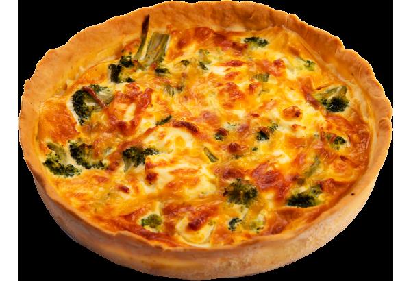 Киш-Лорен с Брокколи и творожным сыром