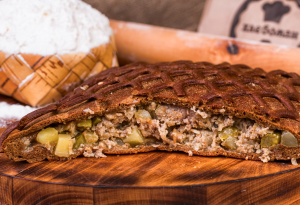 Пирог Бородинский с мясом