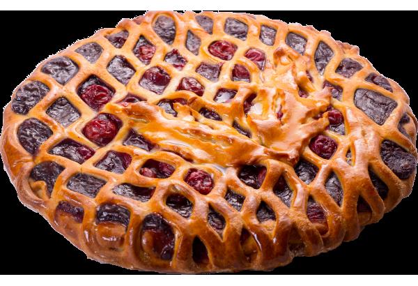 Пирог вишня-шоколад