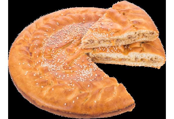 Пирог с мясом (свинина) и капустой